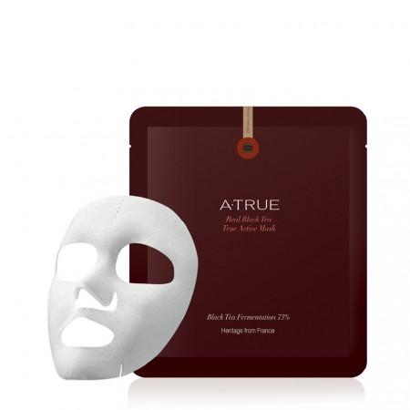 Набор Питательные тканевые маски A-True Real Black Tea True Active Mask 4 шт.