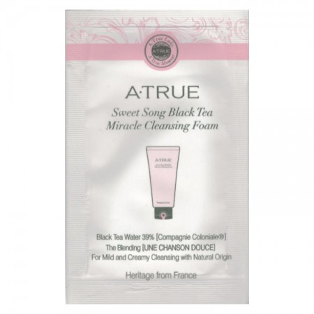 Пробник Пенка для умывания A-True Sweet Song Black Tea Miracle Cleansing Foam