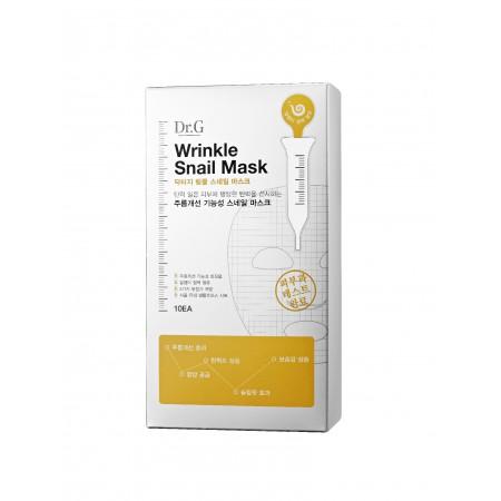 Тканевые маски с экстрактом улитки Dr.G Wrinkle Snail Mask (упаковка 10 шт)