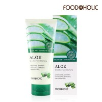 Пенка для умывания с экстрактом алое FoodaHolic Aloe Smothie Foam Cleansing 180ml