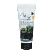 Пенка для умывания с экстрактом черного угля FoodaHolic Charcoal Daily Purifying Foam Cleansing 180 ml