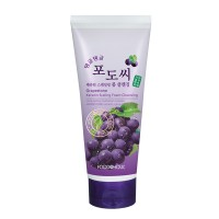 Пенка для умывания с экстрактом виноградных косточек FoodaHolic Grapestone Keratin Scaling Foam Cleansing 180 ml