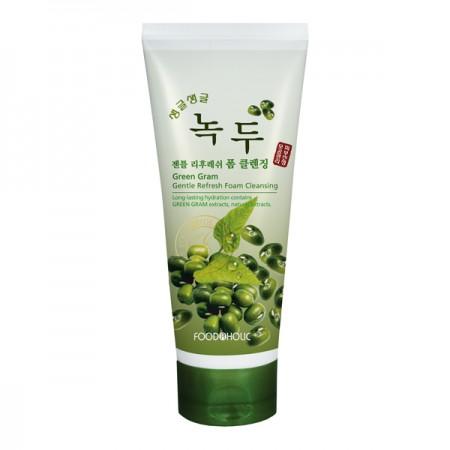 Пенка для умывания с экстрактом бобов Мунг FoodaHolic Green Gram Gently Refrsh Cleansing Foam 180ml