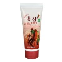 Пенка для умывания с экстрактом женьшеня FoodaHolic Red Ginseng Skin Relaxing Foam Cleansing 180 ml
