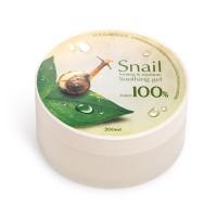 Гель с улиткой 100% для лица и тела для питания и смягчения кожи FoodaHolic Snail Firming and Moisure Soothing Gel 300 ml