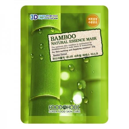 3D Маска тканевая с экстрактом бамбука для смягчения и увлажнения FoodaHolic Bamboo Natural Essence 3D Mask