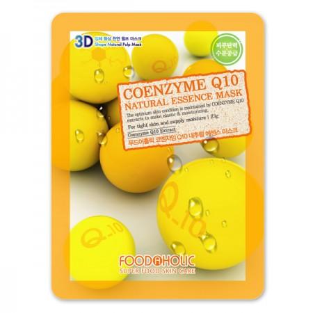 3D Маска тканевая с коэнзимом Q10 для увлажнения и повышения эластичности FoodaHolic Coemzyme Q10 Natural Essence 3D Mask