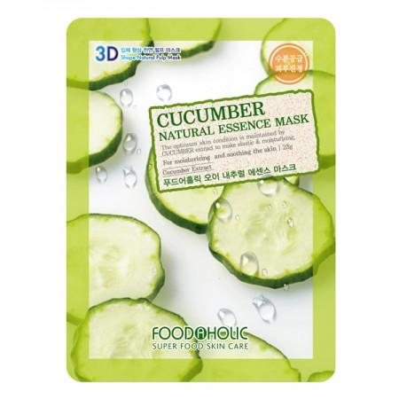 3D Маска тканевая с экстрактом огурца для смягчения и увлажнения FoodaHolic Cucumber  Natural Essence 3D Mask