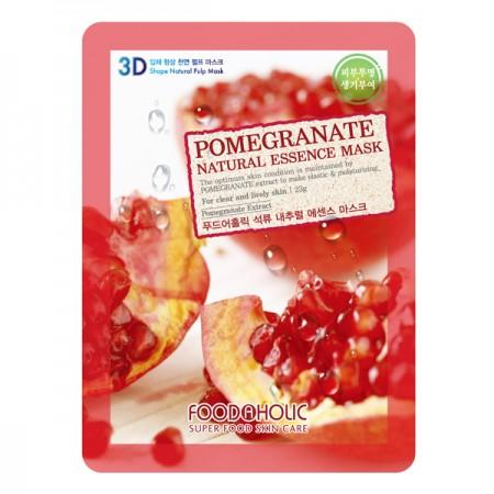 3D Маска тканевая с экстрактом граната для улучшения цвета лица FoodaHolic Pomegranate Natural Essence 3D Mask
