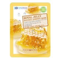 3D Маска тканевая с экстрактом пчелиного маточного молочка для питания кожи FoodaHolic Royal Jelly Essence 3D Mask