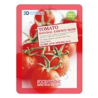 3D Маска тканевая с экстрактом томата для увлажнения и улучшения цвета лица FoodaHolic Tomato Natural Essence 3D Mask