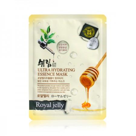 Маска тканевая увлажняющая с экстрактом пчелиного маточного молочка Shelim hydrating essence mask royal jelly 25ml