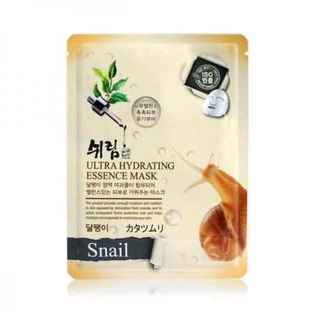 Маска тканевая увлажняющая с муцином улитки Shelim hydrating essence mask snail 25ml
