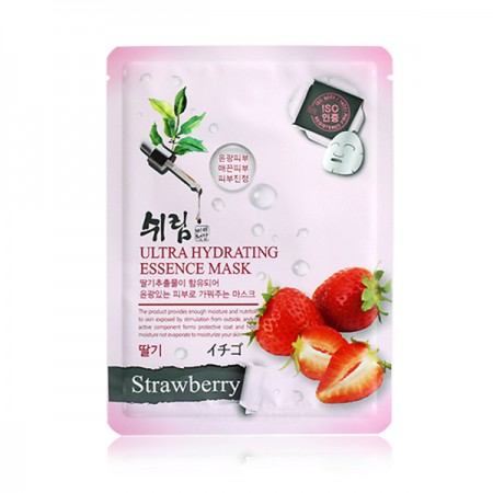 Маска тканевая увлажняющая с экстрактом клубники Shelim hydrating essence mask strawberry 25ml