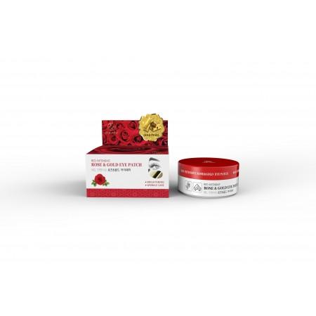Гидрогелевые патчи с экстрактом розы и коллоидным золотом Hani x Hani Red Intensive Rose & Gold eye patch