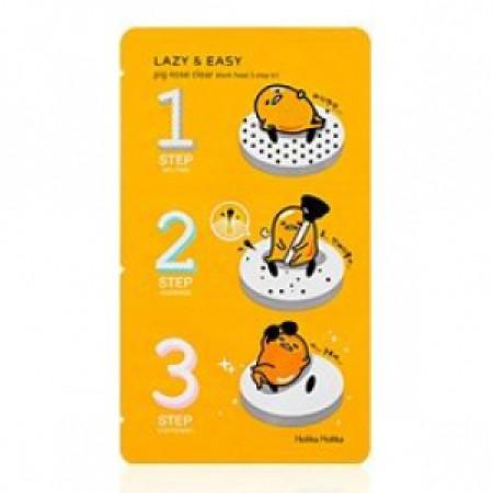 Трехступенчатый набор для очистки пор Holika Holika Gudetama Pignose 3step kit(1pcs)