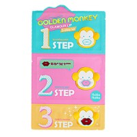 3-х ступенчатый набор средств для ухода за губами Holika Holika Golden Monkey Glamour Lip 3-Step Kit