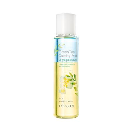 Средство для снятия макияжа с экстрактом зелёного чая It's Skin Green Tea Calming Lip & Eye Cleansing Remover