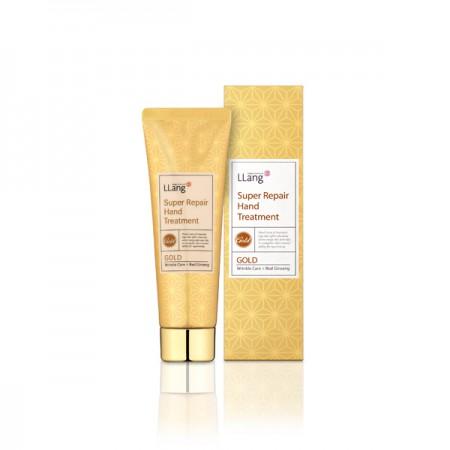 Крем для рук с экстрактом золота LLang Super Repair Hand Treatment: Gold