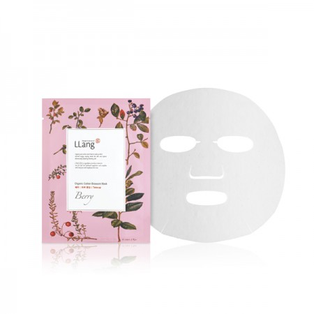 Тканевая маска с экстрактом ягод LLang Organic Cotton Blossom Mask: Berry