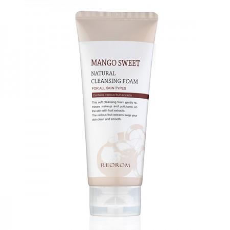 Очищающая пенка с экстрактом сладкого манго Reorom Mango Sweet Natural Cleansing Foam