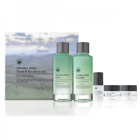 Набор Reorom Natural Snail Toner & Emulsion Set